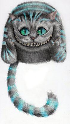 Cheshire Cat - From Tim Burton's Movie by Riuko-chan Cheshire Cat Drawing, Cheshire Cat Tattoo, Chesire Cat, Alice And Wonderland Tattoos, Cheshire Cat Alice In Wonderland, Cheshire Cat Zeichnung, Cheshire Cat Tim Burton, Gato Alice, Disney Sleeve Tattoos