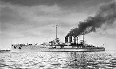 SMS Helgoland, the lead ship of her class, was a dreadnought battleship of the German Imperial Navy. Helgoland's design represented an incremental improvement over the preceding Nassau class, including an increase in the bore diameter of the main guns, from 28 cm (11 in) to 30.5 cm (12 in). Her keel was laid down on 11 November 1908 at the Howaldtswerke shipyards in Kiel. Helgoland was launched on 25 September 1909 and was commissioned on 23 August 1911.