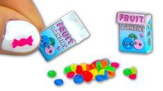 Miniatura de caramelo y caja de caramelos - Tutorial - Miniatures & Doll...