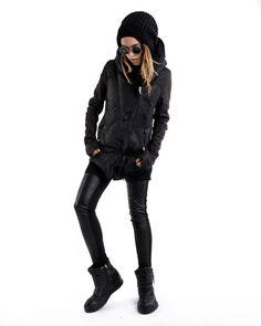 Black Theory - slickcrust:   10sei0otto  Warm Leather Jacket Fashion Black, Theory, Winter Jackets, Leather Jacket, Warm, Style, Winter Coats, Studded Leather Jacket, Swag