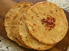 Flax Tortillas...maybe making these into chips...really feel like some salsa