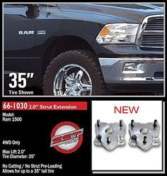 Body Lift Fits 09-17 DODGE Ram1500 1.5IN BODY LIFT Zone Offroad