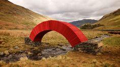Amazing paper bridge erected amidst a beautiful Lake District backdrop | Creative Boom