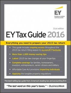 A complete guide to federal taxes and preparing your 2015 tax return provides specific solutions for different taxpayers, 50 of the most commonly overlooked deductions, checklists of key 2015 tax breaks and deductions and much more