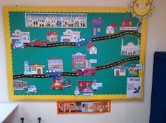 KS - People Who Help Us display. Chn move the emergency vehicles or people to the correct scene. This is one of my favourites as the teacher can change scenario regularly. Class Displays, Classroom Displays, Preschool Displays, Classroom Ideas, My Community, Community Helpers, Early Years Topics, Where Do I Live