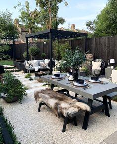 Outdoor Garden Decor, Outdoor Gardens, Outdoor Ideas, Patio Design, Garden Design, Concrete Slab Patio, Outdoor Spaces, Outdoor Living, Backyard Studio