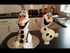 How to Make Olaf Figurine - Cake Decorating Tutorial - YouTube