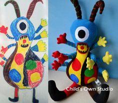 """Thú bông siêu cute """"chế"""" từ những bức vẽ trẻ con 3"""