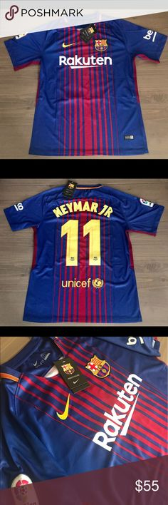 Barcelona Neymar Jr. #11 home 17/18  soccer jersey Barcelona Neymar Jr. #11 home 17/18  soccer jersey liga/beko Nike Shirts Tees - Short Sleeve