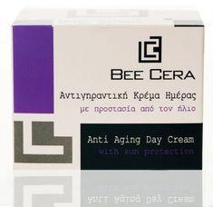 BEE CERA ΑΝΤΙΓΗΡΑΝΤΙΚΗ ΚΡΕΜΑ ΗΜΕΡΑΣ 50 ML Face Creams, Sun Protection, Anti Aging, Bee, Company Logo, Honey Bees, Bees