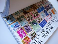 'Collect the stamps off all of your mail' by she.likes.cute, via Flickr