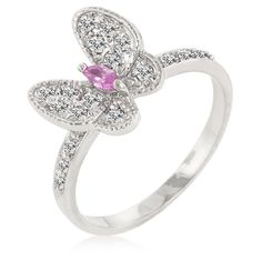 """Alexander James """"Street"""" Silver-tone Pink