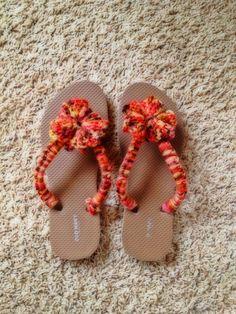 Crochet Flip flops and transform