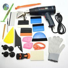 8 In 1 Car Window Tint Tools Kit Vinyl Film Tinting Squeegee Scraper Applicat HL