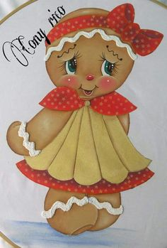 Dibujos Gingerbread Ornaments, Gingerbread Decorations, Christmas Gingerbread, Christmas Wood, Christmas Deco, Christmas Ornaments, Christmas Bazaar Crafts, Tole Painting Patterns, Country Paintings