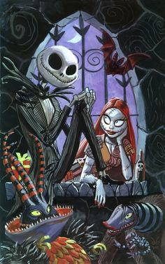 Jack Skellington and Sally   - Dan Brereton