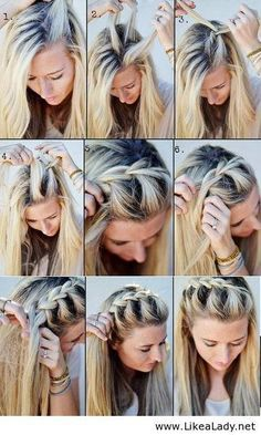 Easy No Heat Hairstyles For Medium Or Long Length Hair - Hair Styles For School No Heat Hairstyles, Diy Hairstyles, Pretty Hairstyles, Hairstyle Tutorials, Braid Tutorials, Summer Hairstyles, Beauty Tutorials, Hairstyles Videos, Wedding Hairstyles