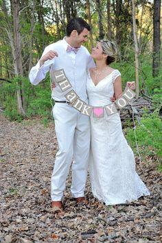 Danke dass Sie Zeichen  rustikale Hochzeit Banner von ABannerAffair, $18.00