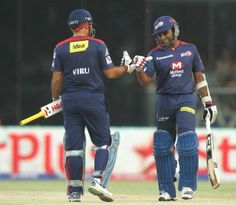 Virender Sehwag and Mahela Jayawardene added 151 for the first wicket, Delhi Daredevils v Mumbai Indians, IPL, Delhi, April 21, 2013