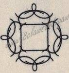 """Chic Frame Three 5x7 Embroidery Design by 8Clawsandapaw.com Design fits in the 5x7 Hoop 4.78"""" x 4.78"""