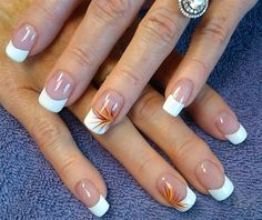 Fall French Manicure