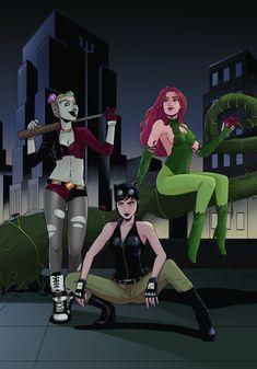Gotham City Sirens by gameshield on DeviantArt Harley Quinn Drawing, Joker And Harley Quinn, Batman Comic Art, Batman Robin, Gotham Batman, Batman Arkham Origins, Arte Dc Comics, Gotham Girls, Dc Comics Characters