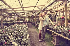 in a greenhouse <3 adorable