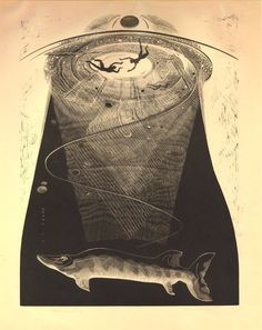 Gertrude Hermes ~ Undercurrents, 1939 (wood engraving)
