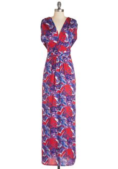 Glide of Your Life Dress. Every step you take in this crimson maxi dress appears as if youre floating on air!  #modcloth