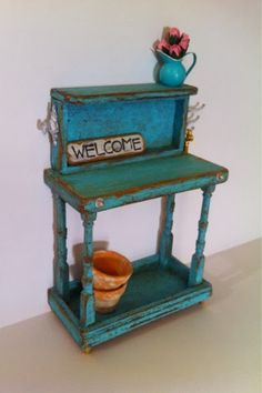 Katie's Clay Corner: Potting table has been listed:)