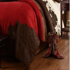 (1) Cowgirl Kim Red Rodeo Comforter Set King Comforter, Comforter Sets, Western Bathroom Decor, Shutter Decor, Rodeo, Comforters, Color, Creature Comforts, Quilts