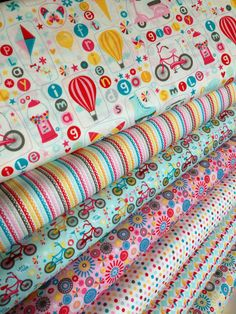 Girl Crazy Fun Girl Fabric bundle by Riley Blake Fabrics- Fat Quarter Bundle, 7 total