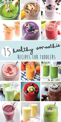 15 Healthy Smoothie Recipes for Toddlers