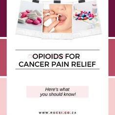 Opioids are medications that can help manage pain caused by cancer and its treatment by blocking pain signals from injured nerves to the brain. They can help relieve aching, throbbing pain in the muscles, or numbness in the hands and feet known as neuropathy. Here's what cancer patients should know about opioids and the myths surrounding them. #breastcancer #cancer #breastcancerawareness #breastcancersurvivor #oncology #DrSerrurier #ROCSI Breast Cancer Support, Breast Cancer Survivor, Breast Cancer Awareness, Health Tips, Health Care, Cancer Fighter, Pain Relief, Muscles, Brain