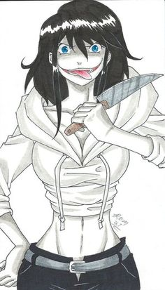 My Female Jeff The Killer Drawing