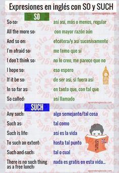 Cómo se usan SO y SUCH en inglés - Aprende Inglés Sila #learnspanish