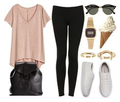 """""""Sin título #12331"""" by vany-alvarado ❤ liked on Polyvore featuring H&M, Topshop, Chanel, Ray-Ban, Casio and Billabong"""