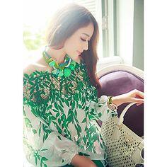 De las mujeres encantadoras del cordón Conjunto blusa de la gasa – MXN $ 130.71