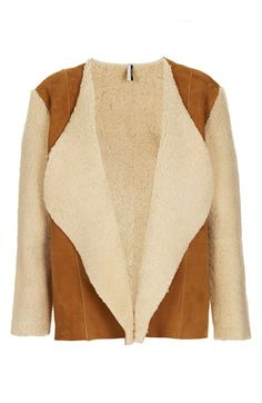 Topshop 'The Collection Starring Kate Bosworth' Genuine Shearling Jacket | Nordstrom