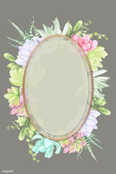Badge Template, Frame Template, Templates, Succulent Frame, Maya, Framed Wallpaper, Free Hand Drawing, Borders And Frames, Oval Frame