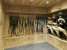 Tack room with great storage.