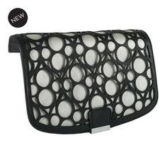 Laser Orbit Versa Handbag Flap Accent - Black Silver at MyStyleInASnap.com  Circle Pattern 3e199121b9b91