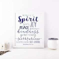 Fruit of the Spirit Printable Wall Art Galatians 522-23 Blue  sc 1 st  Pinterest & St Francis Peace Prayer Printable Wall Art St Francis Assisi Make Me ...