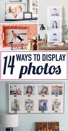 I love displaying family photos throughout my house, but basic frames can get boring. LOVE these creative photo display ideas! I never dreamed I could make my own canvases with that real canvas texture. Can't wait to try that DIY photo canvas idea and a f