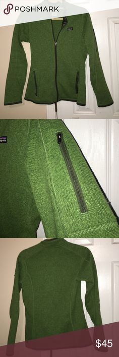 Green Patagonia jacket Women's fit XS green Patagonia jacket. Two zip up pockets and one side arm zip up pocket. Patagonia Jackets & Coats Utility Jackets