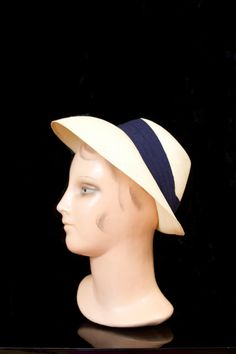 1940's Hat // Beige Woven Linen Summer Hat New by GarbOhVintage, $98.00