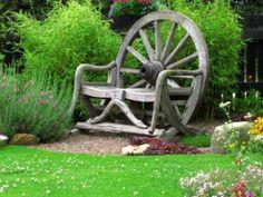 Garden Chair - Garden, Chair, Scotland, Beautiful, Beautiful Garden, Beautiful Chairs