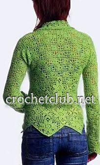 пуловер с отложным воротничком-спинка