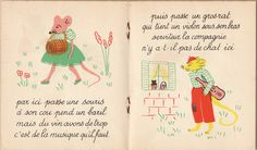 My Vintage Avenue !!! 50's and 60's illustrations !!!: L'alouette et le pinson illustrated by Marie-Thérèse Bacné :)