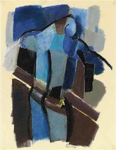 Artwork by Keith Vaughan, Figure: April Made of pastel John Minton, Camberwell College Of Arts, Abstract Art Images, Manchester Art, Glasgow School Of Art, Irish Art, Art Moderne, Male Figure, Global Art